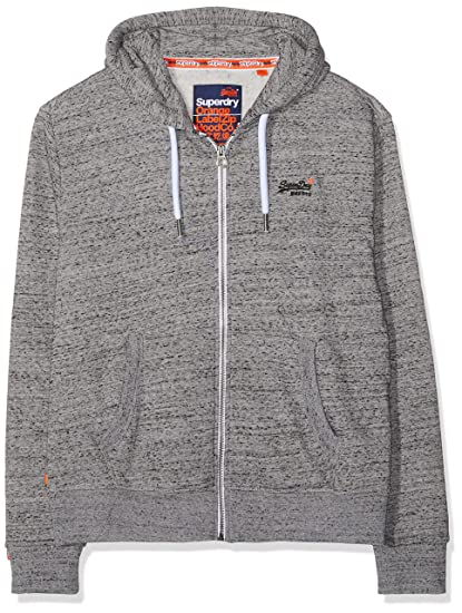 Superdry Herren Orange Label Ziphood Kapuzenpullover