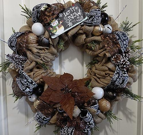Rustic Christmas Wreaths To Make.Amazon Com Burlap Christmas Wreath Rustic Christmas Wreath