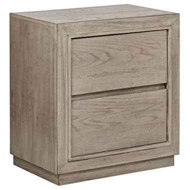Stone & Beam Bishop Modern Wood Bedroom Nightstand, 24 , Natural Weathered Oak