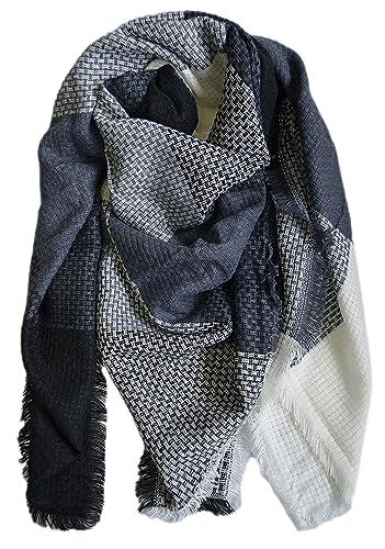 Modetreff - Bufanda - para mujer Blau-Grau-Schwarz Talla única