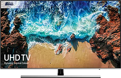 Samsung UE55NU8000 55-Inch Dynamic Crystal Colour 4K Ultra HD Certified HDR 1000 Smart TV - Black/Silver (2018 Model) [Energy Class A] (Certified Refurbished): Amazon.es: Electrónica