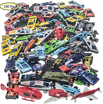prextex 100 pc die cast toy cars party favors or cake toppers stocking suffers cars toys