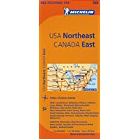 Michelin USA: Northeast, Canada: East / Etats-Unis: Nord-Est, Canada: Est Map 583
