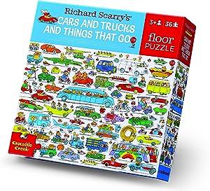 Crocodile Creek - Richard Scarry Cars & Trucks 36 Piece Classic Floor Puzzle, for Ages 3+, 1 ea (40710)