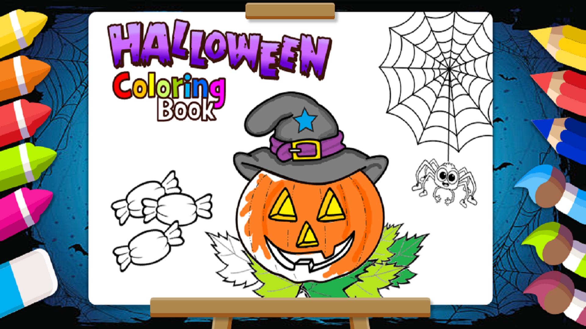 Halloween Libro para Colorear y Pintar: Amazon.es
