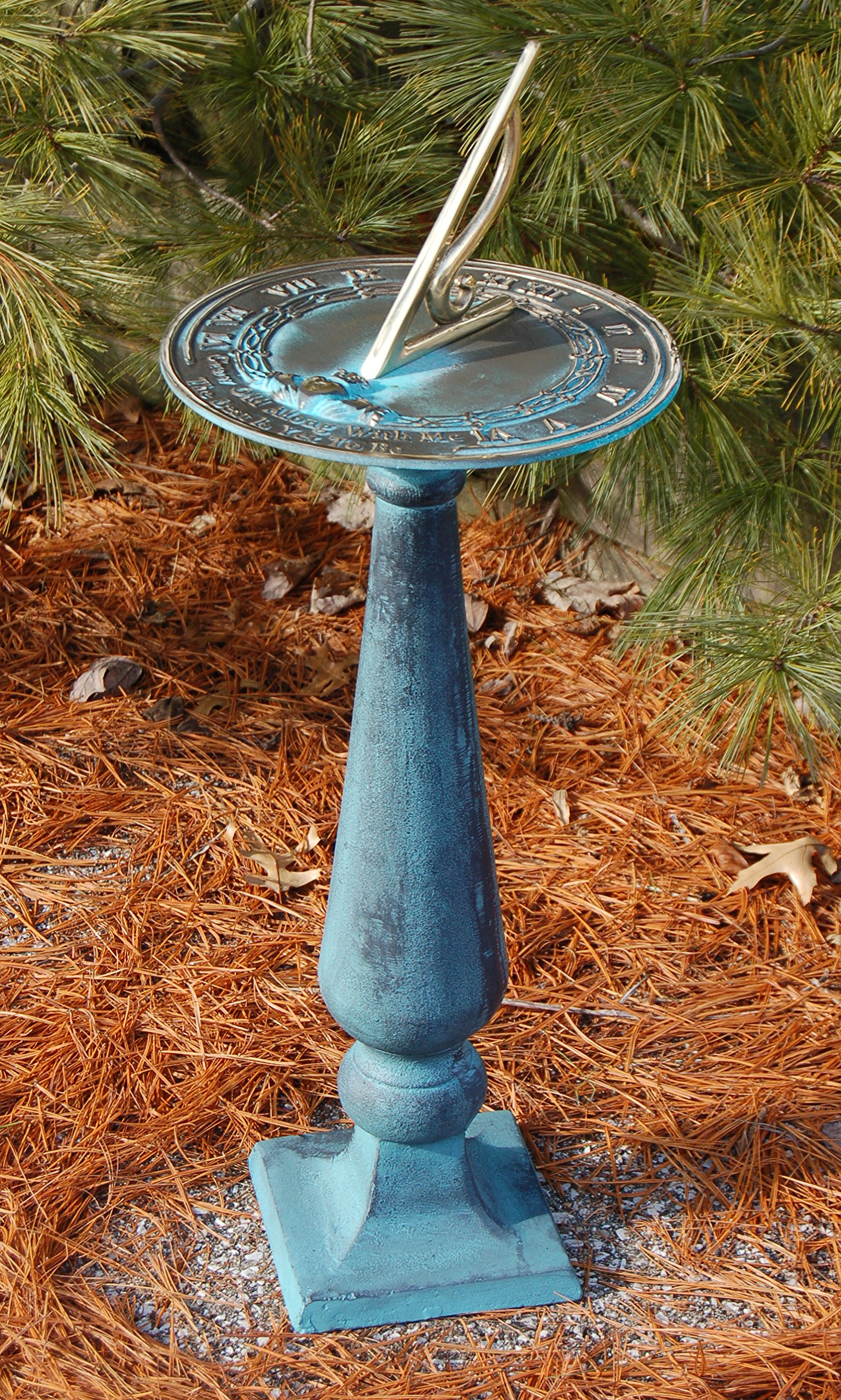 Amazon.com : Rome Grow Old With Me Sundial and Baluster Pedestal ...