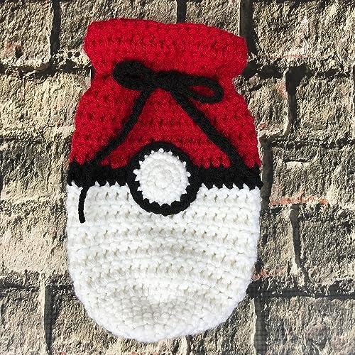 Amazon Pokemon Inspired Bag Handmade Crochet Drawstring Bag