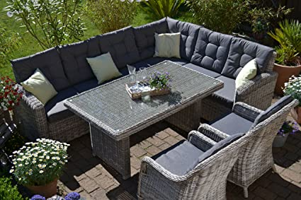 Amazon De Bomey Rattan Lounge Set I Gartenmobel Set