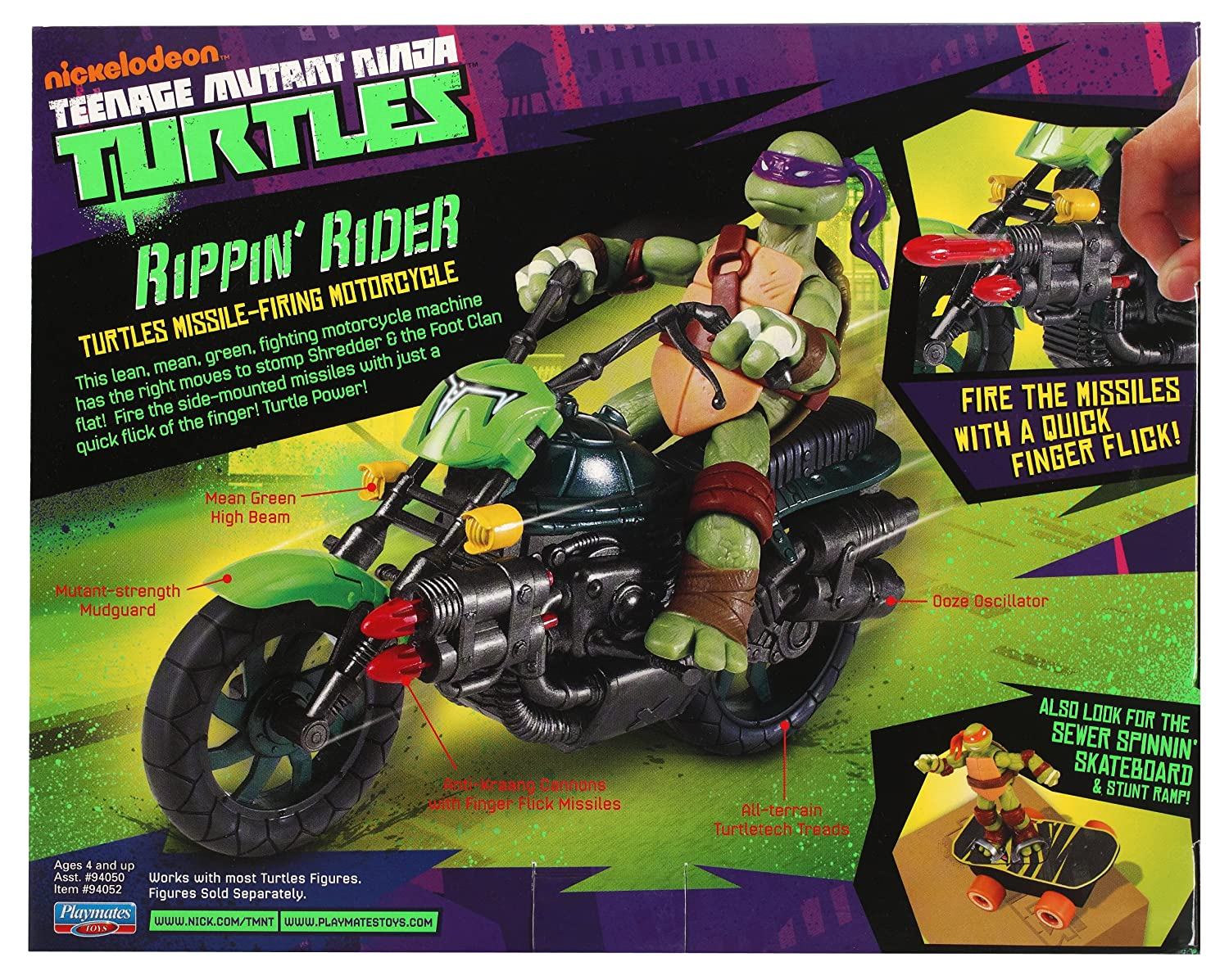 Amazon.com: Teenage Mutant Ninja Turtles Rippin Rider: Toys ...