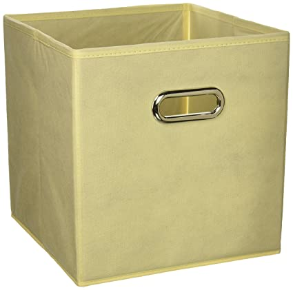 VCCUCINE Foldable Fabric Cube Storage Bins, 6 Pack Beige Cubeicals  Containers Drawers