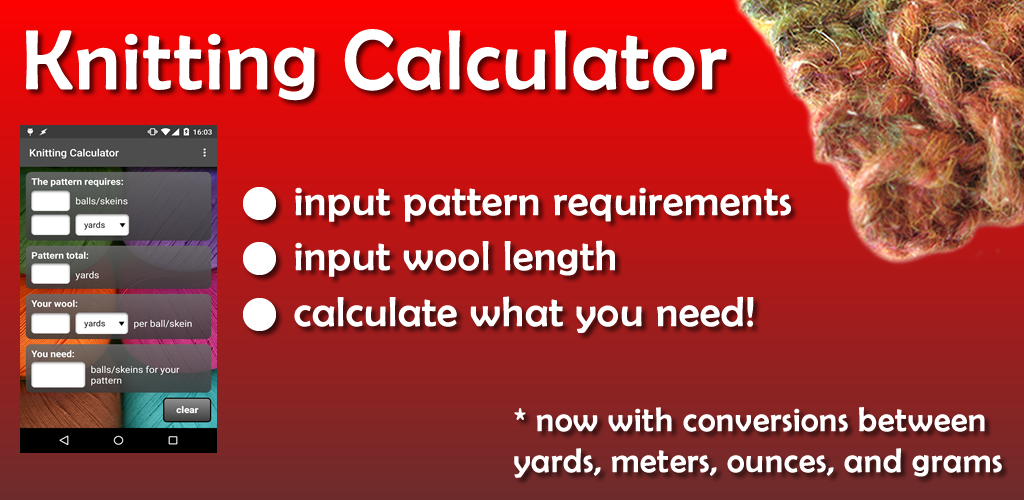 Knitting Calculators : Amazon knitting calculator appstore for android