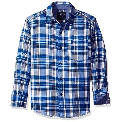 Nautica Boys' Ensign Flannel Plaid Long Sleeve Woven Shirt