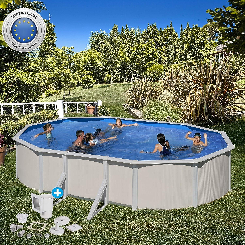 Paradies Pool Gre - Piscina Individual Ovalada, 375 x 610 x 120 m ...