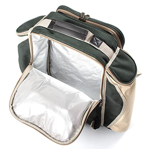 Greenfield Collection Deluxe - Mochila de Picnic para Cuatro ...