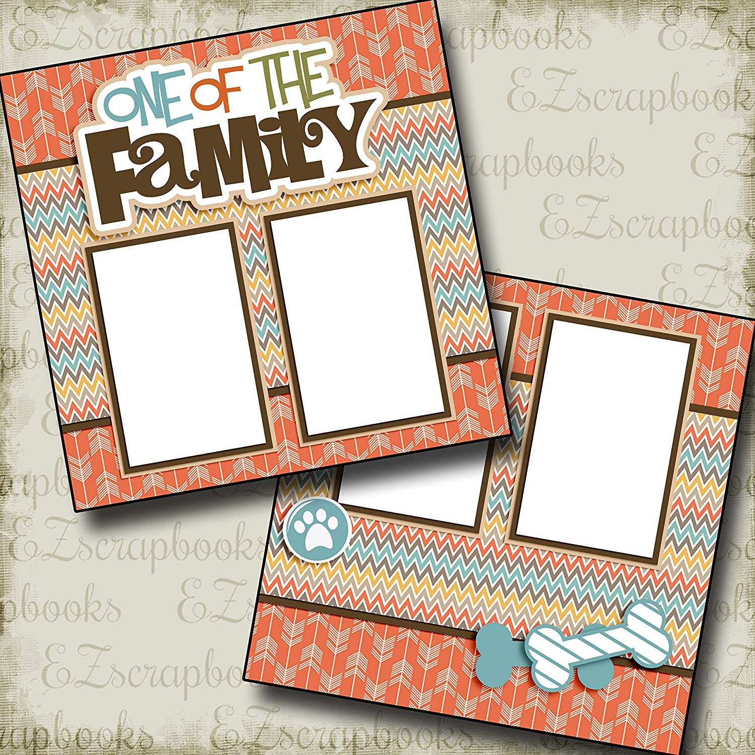 Premade Scrapbook Pages EZ Layout 2546 ONE OF THE FAMILY DOG