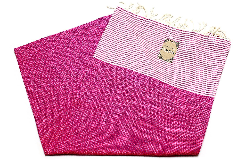Toalla Fouta para sauna XXL de Anna Aniq. Dimensiones: 197 x 100 cm. Material: 100% algodón de Túnez. Para usar como toalla de playa o baño oriental, ...