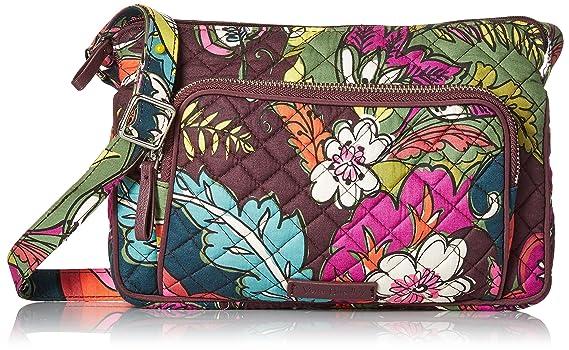 25a97390a0 Vera Bradley Iconic RFID Little Hipster, autumn leaves: Handbags: Amazon.com