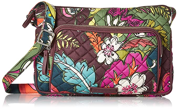 9e54d5a3f123 Vera Bradley Iconic RFID Little Hipster, autumn leaves: Handbags ...
