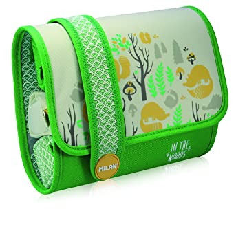 Amazon.com: ESTUCHE MILAN MULTIPENCILCASE IN THE WOODS VERDE ...