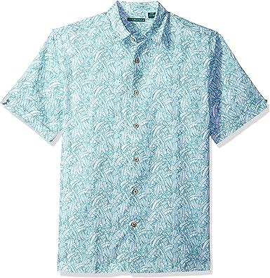 Cubavera Short Sleeve Tropical Floral  Woven Sport Shirt