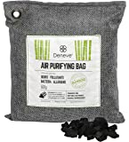 Deneve Bamboo Charcoal Air Purifying Bags (500g black) Air Freshener Activated Bamboo Charcoal Removes Odors, Allergens and Harmful Pollutants, Fragrance Free Chemical Free And Non Toxic