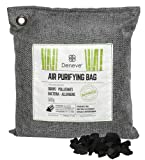 Deneve Bamboo Charcoal Air Purifying Bags (500g blk) Air Freshener Activated Bamboo Charcoal Removes Odors, Allergens and Harmful Pollutants, Fragrance Free Chemical Free And Non Toxic