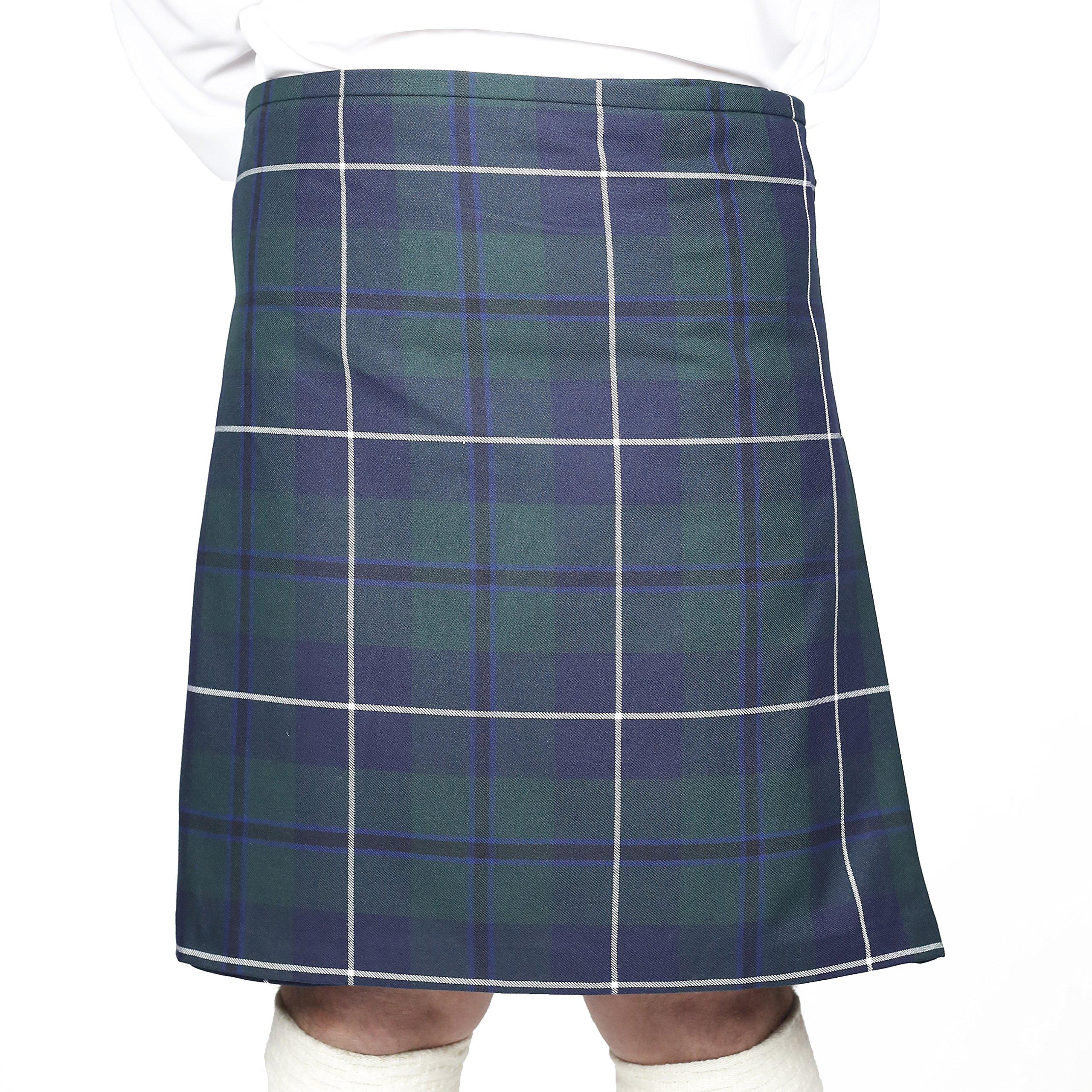 Kilt Society Mens 8 Yard Scottish Kilt Douglas Tartan 42'' to 46''
