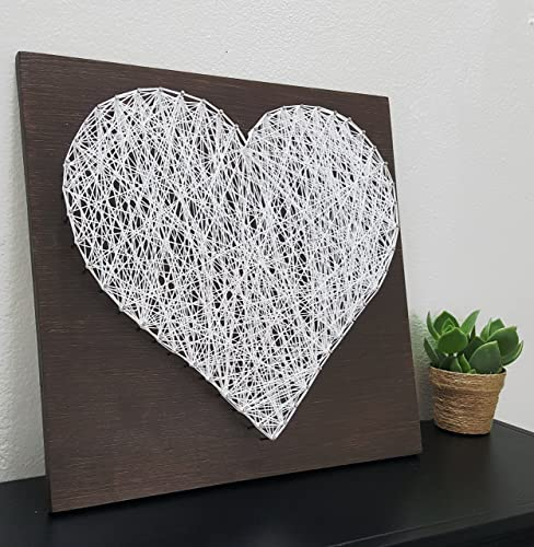 Amazon Com 12 X12 Heart Wood Sign Nail And String Wall Art Home