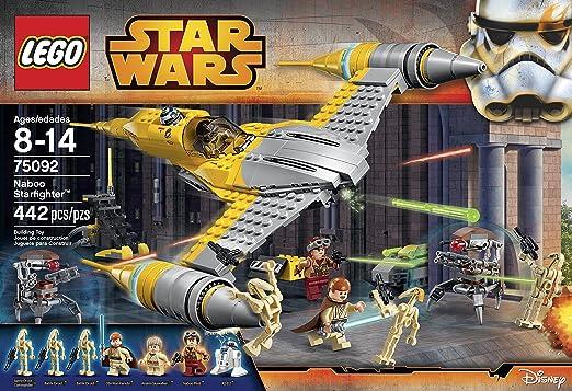 Amazon.com: LEGO Star Wars Naboo Starfighter 75092 Building Kit ...
