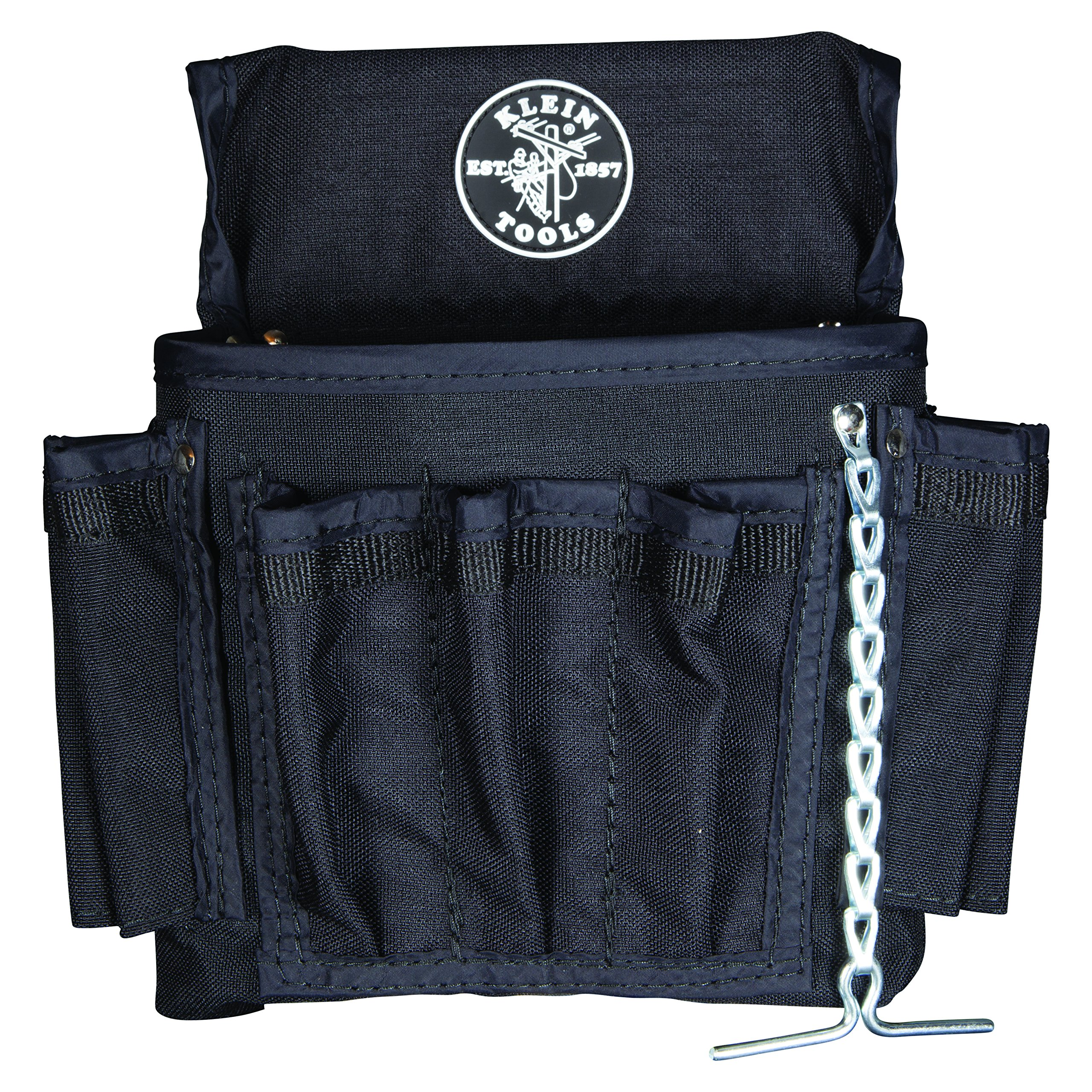 Klein Tools 5719 PowerLine Series Electrucian Tool Pouch Made of Washable 1000 Denier Condura Fabric, 18-Pocket by Klein Tools