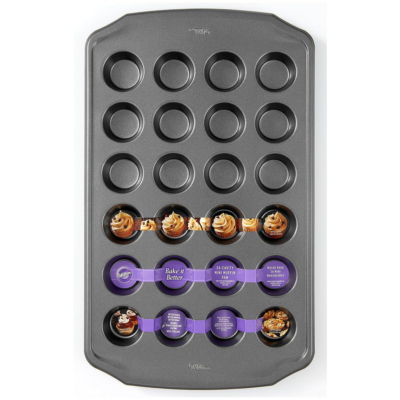 Amazon.com: Wilton Bake It Better 24-Cavity Mini Muffin Pan: Home & Kitchen
