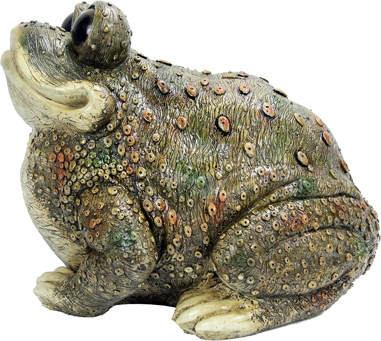 Michael Carr Designs Kenzie Toad Outdoor Toad Figurine for Gardens, patios and lawns (80084)