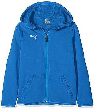 Puma Children s LIGA Casuals Hoody Jacket, Electric Blue Lemonade White, ... 6d63019438