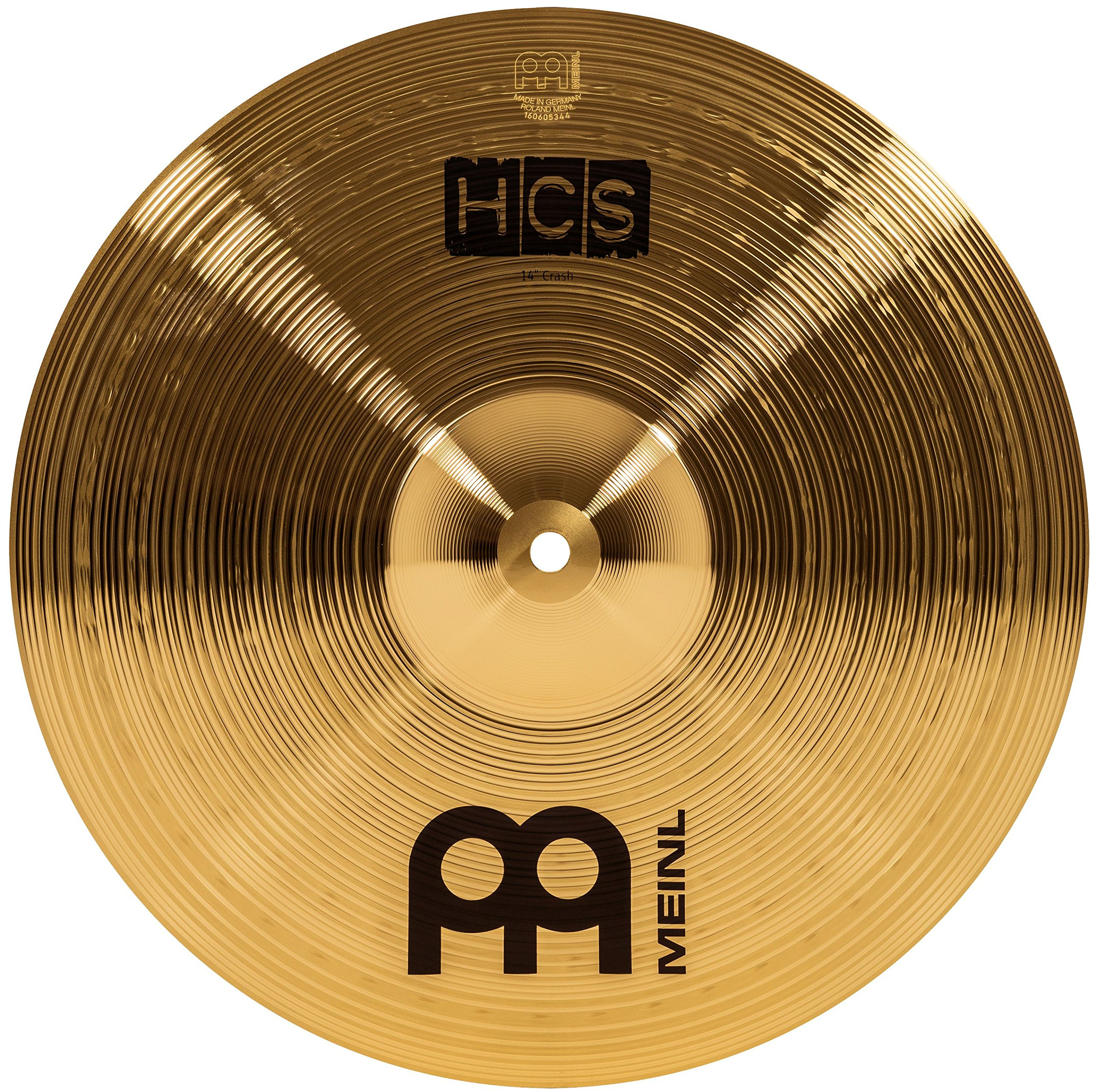 Meinl 14'' Crash Cymbal - HCS Traditional Finish Brass for Drum Set, Made In Germany, 2-YEAR WARRANTY (HCS14C) by Meinl Cymbals