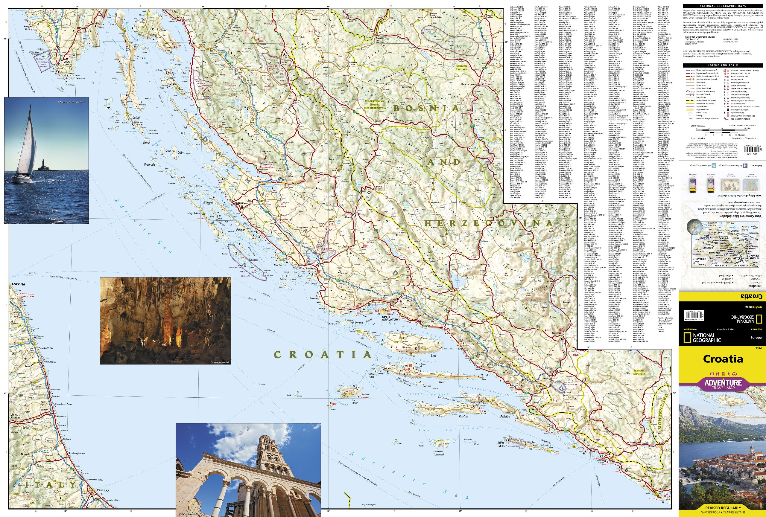Croatia (National Geographic Adventure Map): National Geographic ...