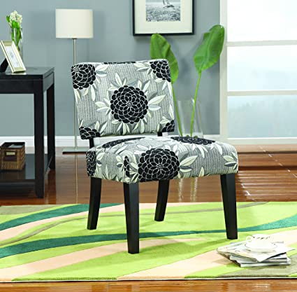 coaster casual french icon printed accent chair - Printed Accent Chairs