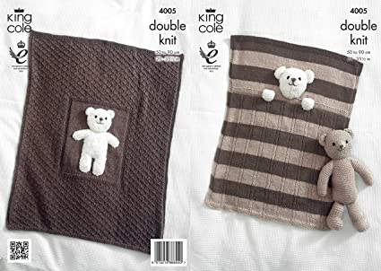 Amazon King Cole Double Knitting Pattern For Baby Blankets