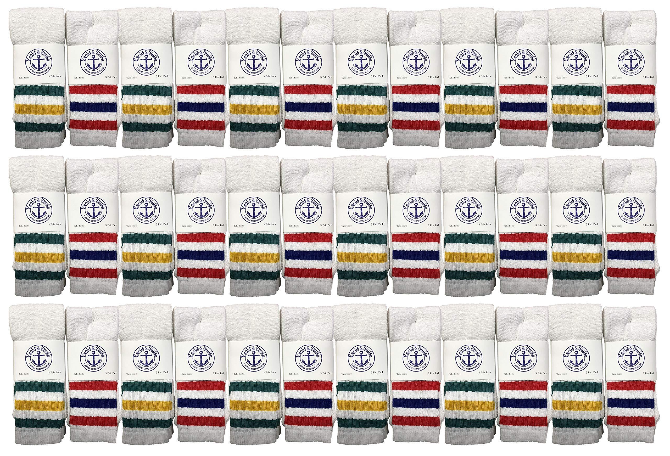 Yacht & Smith Wholesale Kids Tube Socks, Cotton Bulk Sport Socks Size 4-13 by Yacht & Smith
