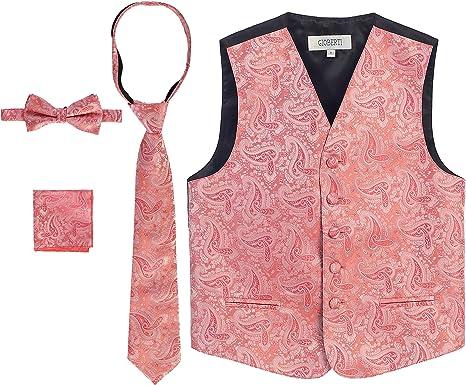 PURPLE 4//5 Vest and Clip On Boy Bowtie set