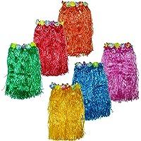 Falda Hawaiana (Pack de 6 Colores Brillantes)