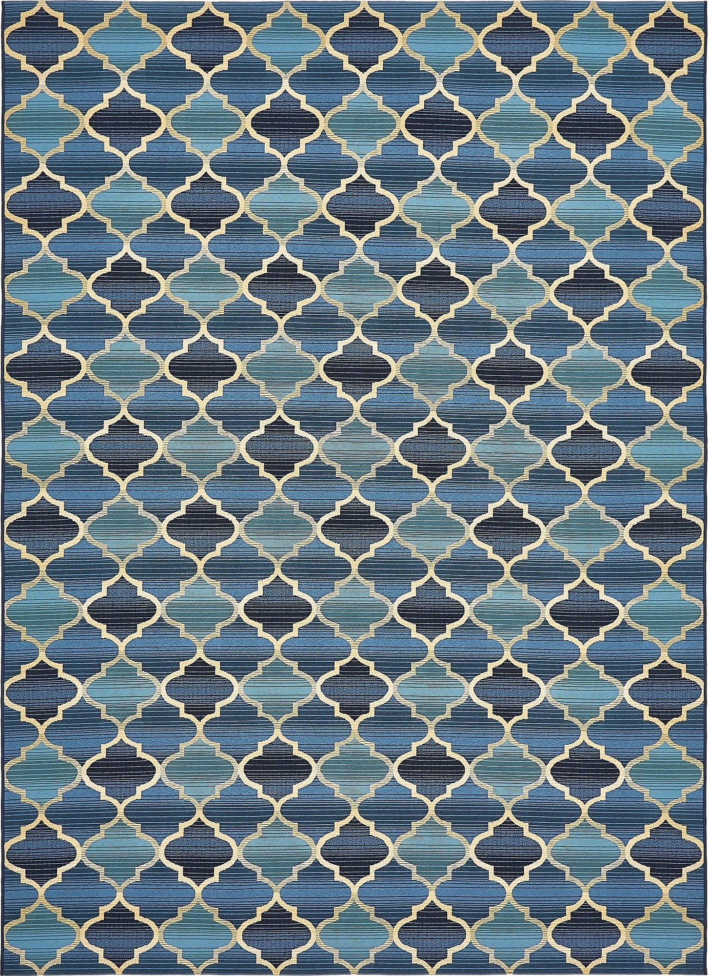 Unique Loom Eden Outdoor Collection Blue 8 x 11 Area Rug (8' x 11' 4'') by Unique Loom