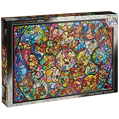 Disney Stained Art Jigsaw Puzzle[1000P] All Stars Stained Glass (DS-1000-764): Toys & Games