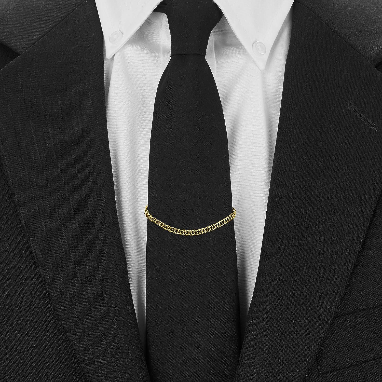 2 Pzs Cadenas Para Corbatas (Pisacorbata) Color Plata y Oro en ...
