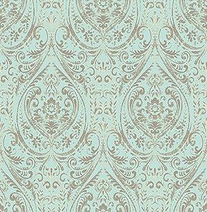 """NuWallpaper NU2079, 10.25"""" Nomad Damask Peel and Stick Wallpaper"""