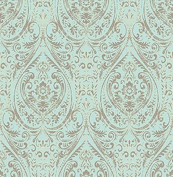 Nuwallpaper Nu2079 10 25 Nomad Damask Peel And Stick Wallpaper Amazon Com