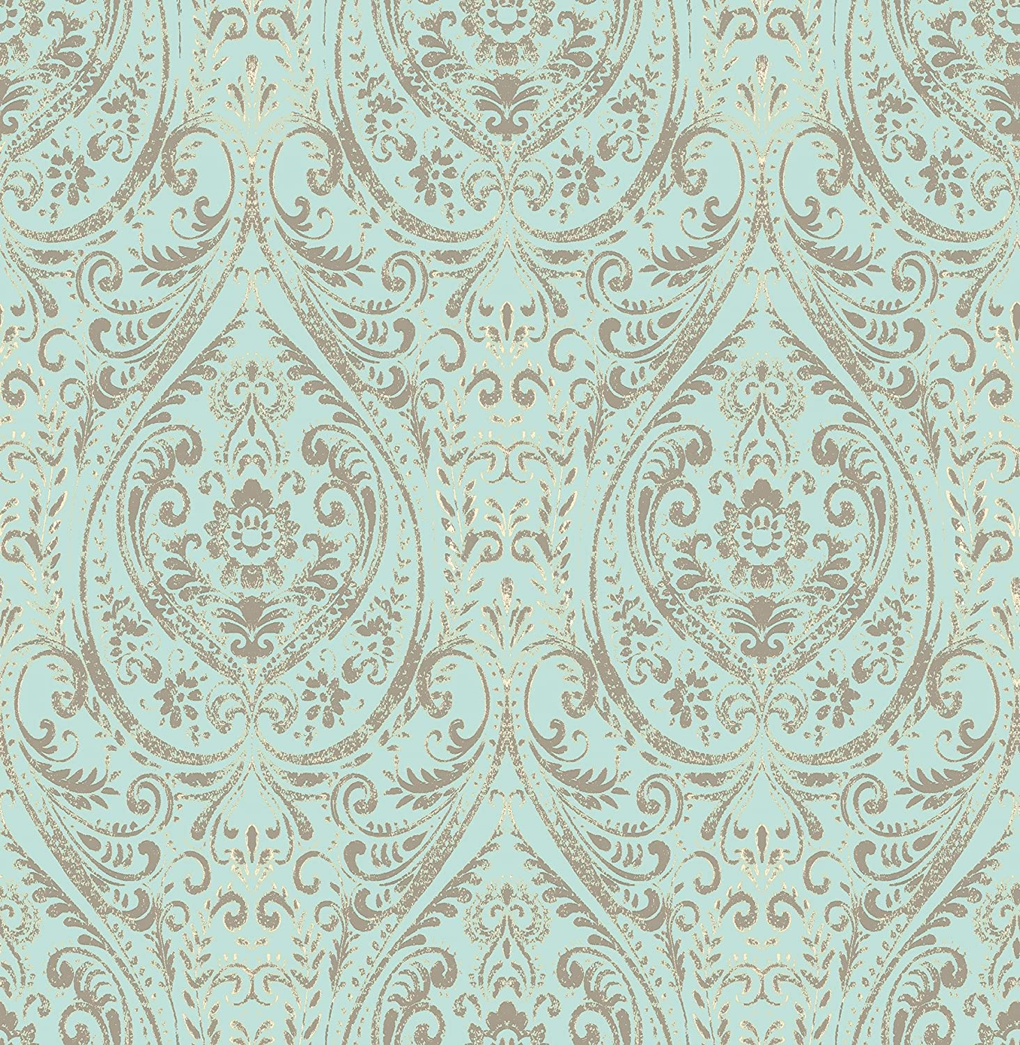 Brewster Home Nomad Damask Peel and Stick Wallpaper