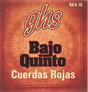 GHS Strings GHS RED COATED STAINLESS STEEL BAJO QUINTO Strings - Loop End - - Cuerdas