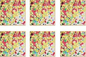 0.5 Ounces In Package Total of 3 Ounces of Confetti Beistle SCN312AZ6 6 Packages Dice Confetti