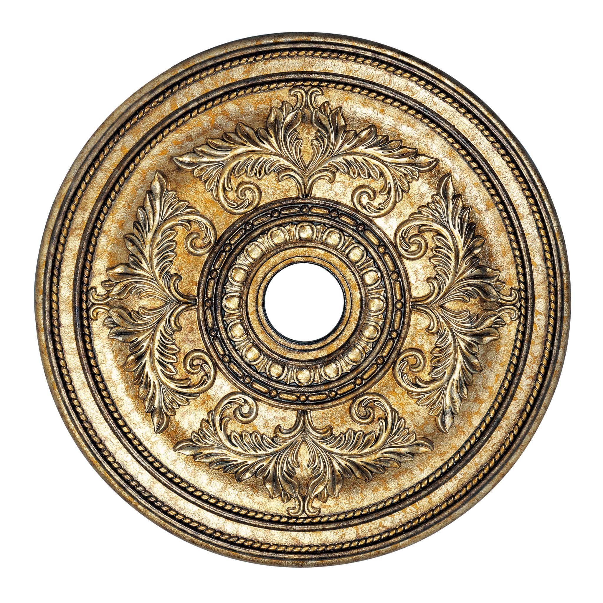 Livex Lighting 8210-65 Ceiling Medallion, Hand Painted Vintage Gold Leaf by Livex Lighting