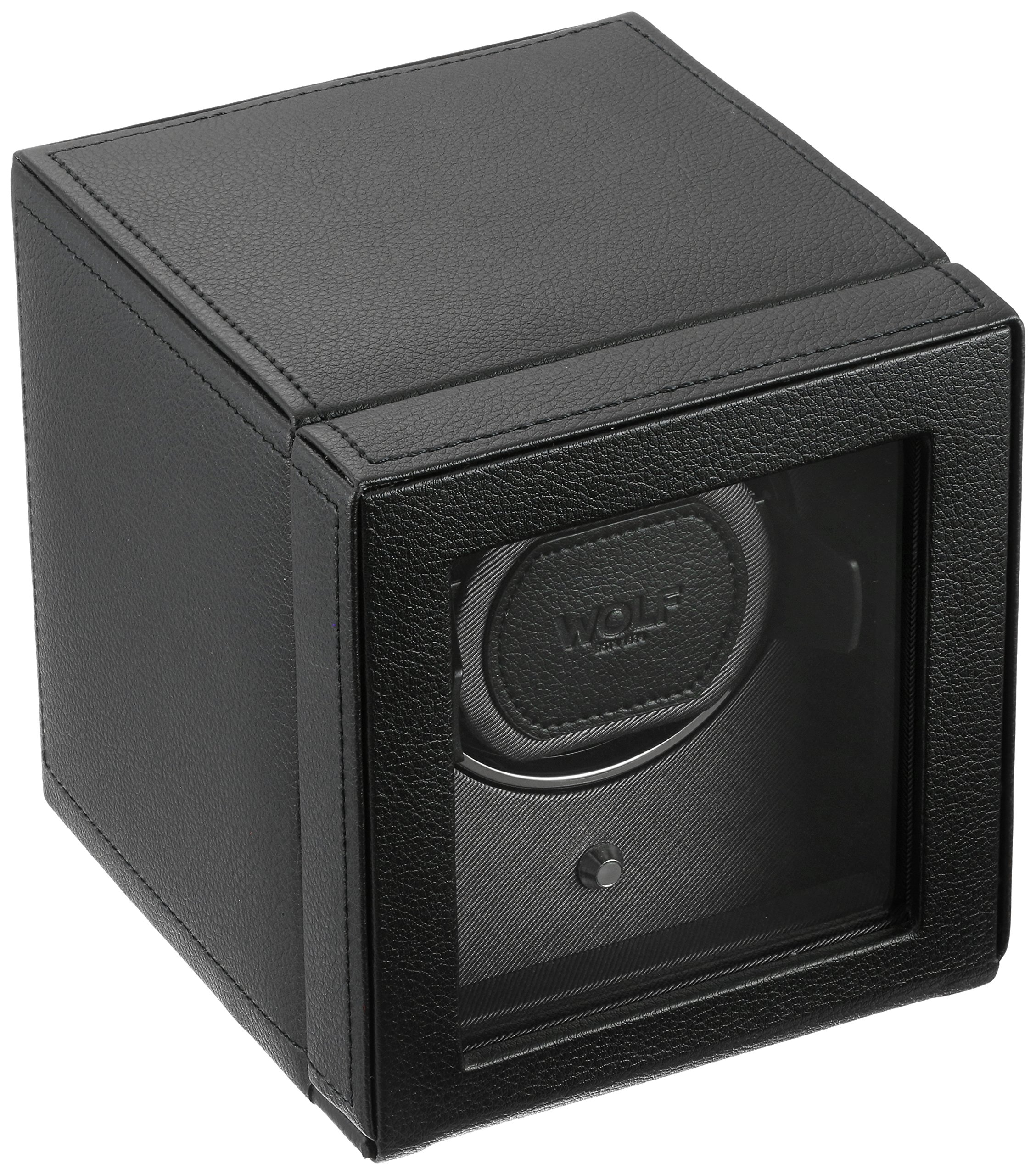 WOLF Unisex 461103 Wolf Cub Single Black Analog Display Watch Winder with Cover by WOLF